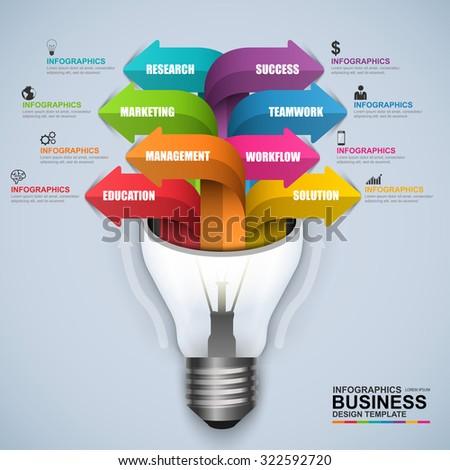 Abstract D Digital Business Light Bulb Stock Vector - Digital business plan template