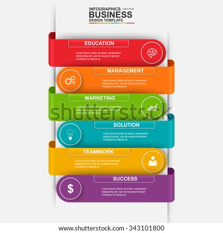 Abstract 3d Digital Business Marketing Infographic Stock Vector