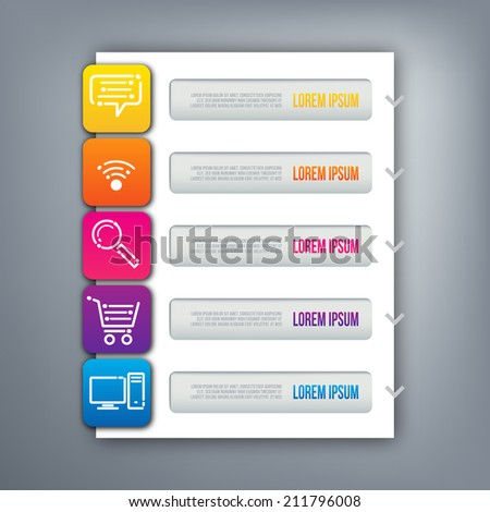Abstract 3D digital illustration Infographic - stock vector