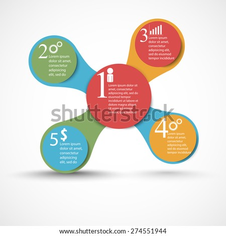 Abstract 3D digital illustration Infographic. Vector illustration can be used for workflow layout, diagram, number options, Modern web design. Business concept with 3, 4 options. Abstract background.