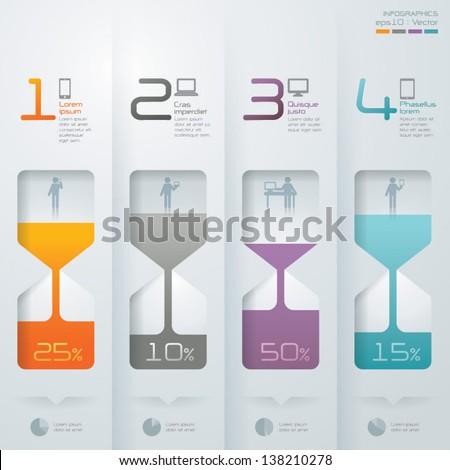 Abstract 3D digital illustration Infographics. - stock vector