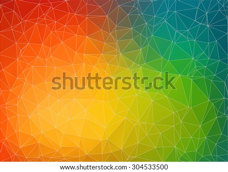 Abstract 2D geometric colorful background for web design - stock vector