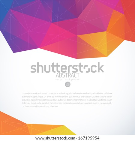 Abstract 3D geometric colorful vector background
