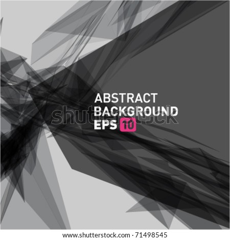 Abstract 3d geometric lines modern grunge vector background. Eps 10. - stock vector