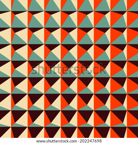 Abstract 3d geometric pattern. Polygonal background. Vector illustration. - stock vector