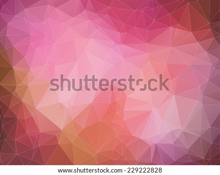 Abstract 2D geometric red background - stock vector