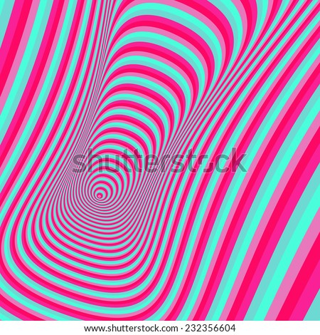 Abstract 3d geometrical background. Pattern with optical illusion. Vector illustration.  - stock vector