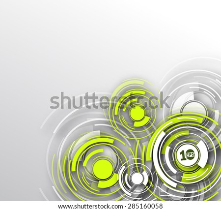 Abstract 3D Geometrical circle Design, eps10 vector - stock vector