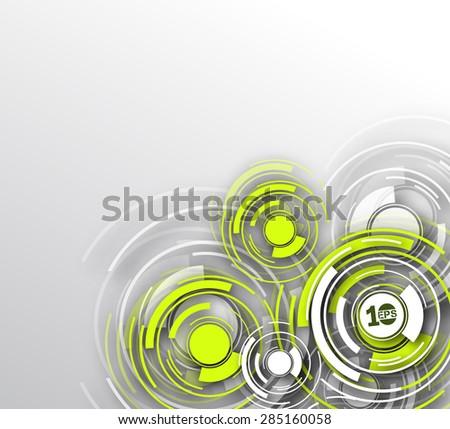 Abstract 3D Geometrical circle Design, eps10 vector - stock vector