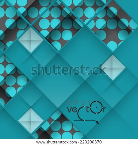 Abstract 3D Geometrical Design.  Vector Illustration. Eps 10. - stock vector