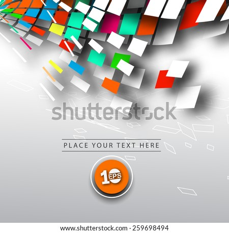 Abstract 3D Geometrical Mosaic Design, eps10 vector  - stock vector