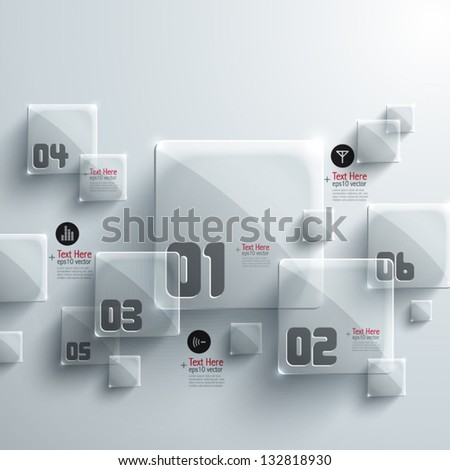 Abstract 3D Glass Graphics - stock vector