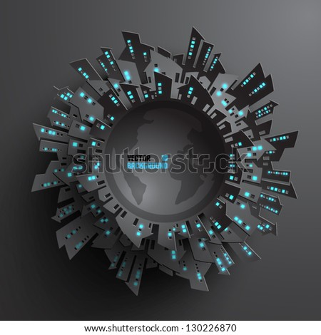 Abstract 3D Globe - stock vector