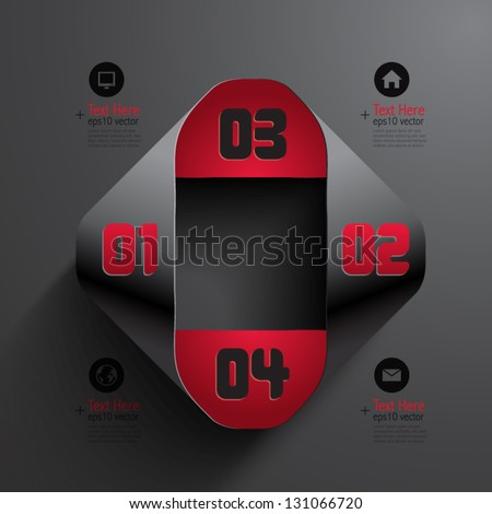Abstract 3D Infographics - stock vector