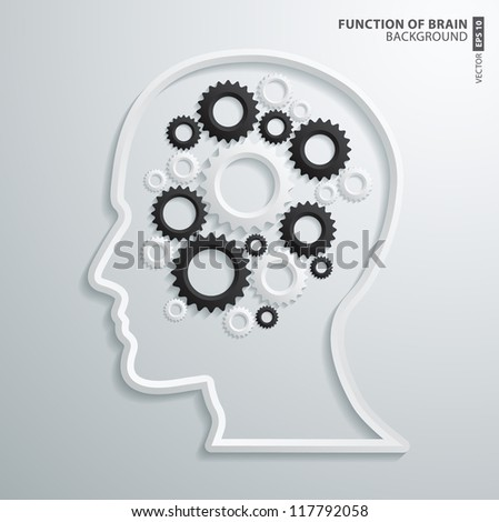 Abstract 3D intelligence brain function Design