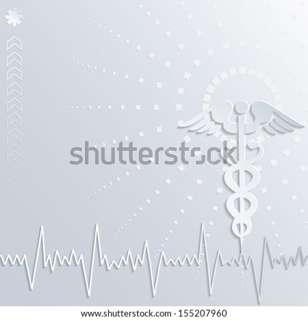 Abstract 3d medical background. Vector eps10. - stock vector