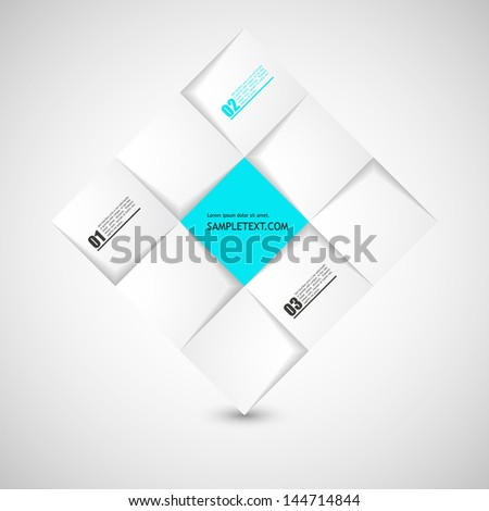 Abstract 3D minimalistic  Infographics background - stock vector