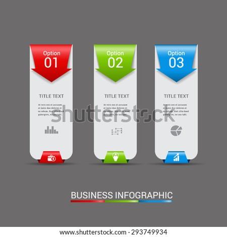 Abstract 3D Modern digital template vector  banner infographics. - stock vector