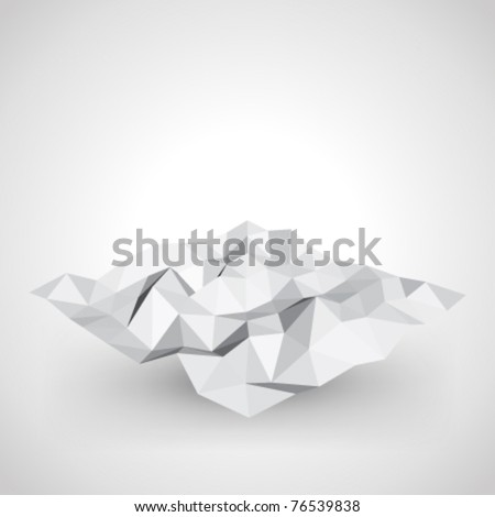 Abstract 3d origami plane vector background. Eps 10. - stock vector