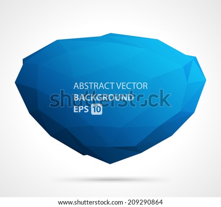 Abstract 3d origami polygonal shape vector design background - stock vector