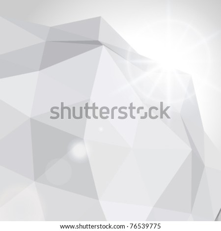 Abstract 3d origami wire vector background. Eps 10. - stock vector