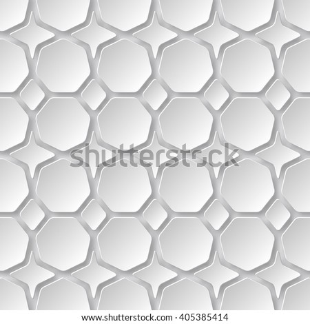 Abstract 3D Paper background of heptagon . Vector - stock vector