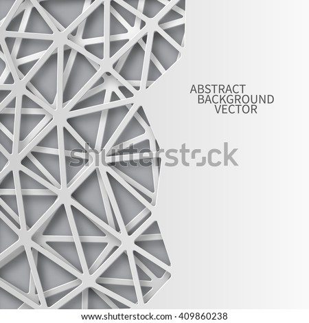 Abstract 3D Paper background with a place for an inscription. Vector - stock vector