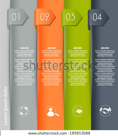 Abstract 3d paper numbered banners. Vector eps10.  - stock vector