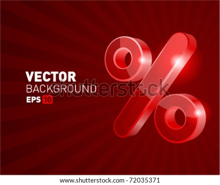 Abstract 3d percent vector background