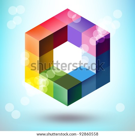 Abstract 3d polygonal sphere vector design element - stock vector