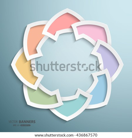 Abstract 3D round infographic colorful shape with geometric arabesque design