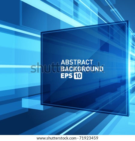 Abstract 3d science wire with smooth light vector background. Eps 10. - stock vector