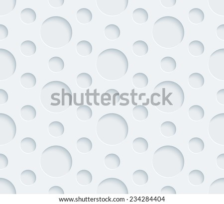 Abstract 3d seamless background. Vector EPS10 pattern. See others in a Perforated Paper Set.  - stock vector