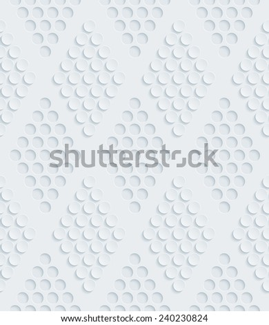 Abstract 3d seamless pattern. Editable vector EPS10. See others in a Perforated Paper Set.  - stock vector