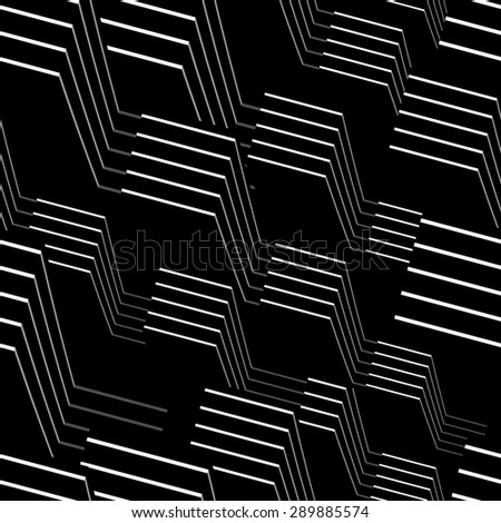 Abstract 3d seamless, vector illustration for Your design, eps10 - stock vector