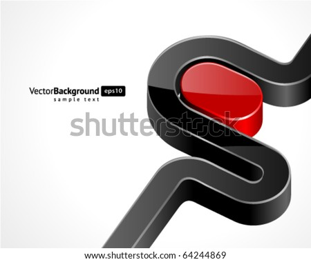 Abstract 3d shape vector background - stock vector