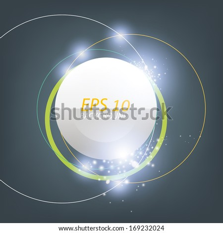 Abstract 3D shine modern circle background with lite effect. - stock vector