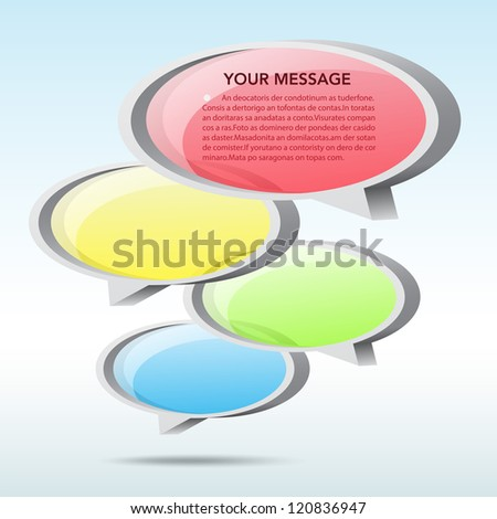 Abstract 3D speech bubble background. EPS10