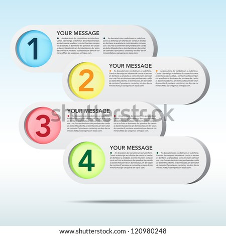 Abstract 3D speech bubble background. EPS10 - stock vector