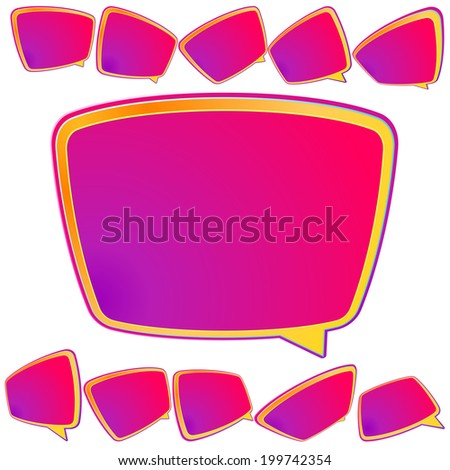 Abstract 3D speech bubble background. plus EPS10 - stock vector