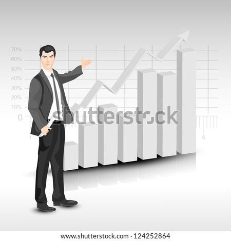 Abstract 3D statistics, business profit and loss background. EPS 10. - stock vector