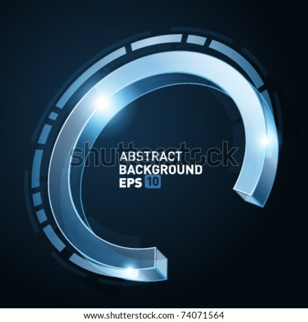 Abstract 3d technology circles vector backgound. Eps 10. - stock vector