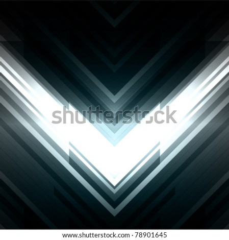 Abstract 3d technology lines with light vector background. Eps 10.