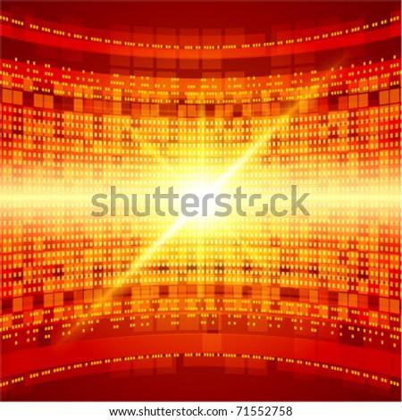 Abstract 3d technology space vector backgound. Eps 10. - stock vector