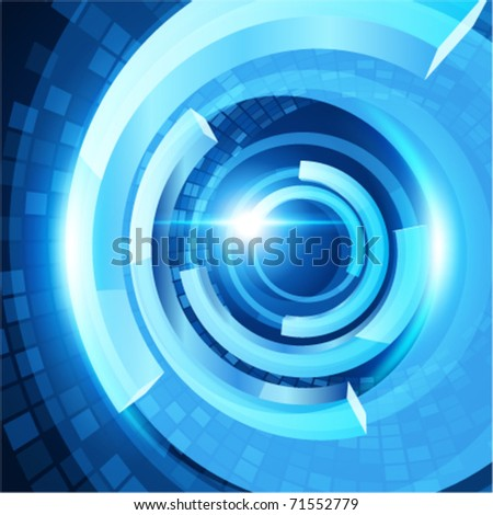 Abstract 3d technology space vector backgound. Eps 10. - stock vector