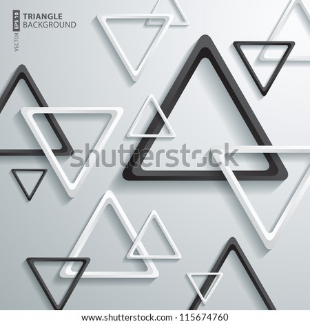 Abstract 3D Triangle Design - stock vector