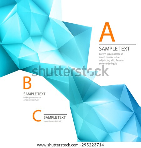 Abstract 3D triangle geometric background EPS 10 - stock vector