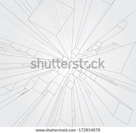 Abstract 3d vector background. - stock vector