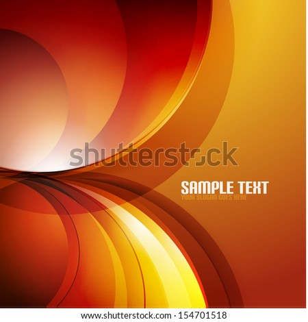 Abstract 3d waves modern business background - stock vector