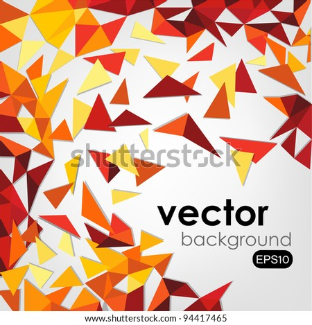 Abstract 3d Wire Vector Background - stock vector